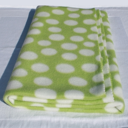 Bunny Blanket Green And White Polka Dots