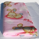 Bunny Blanket - pink with bunnies
