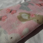 Bunny Blanket - pink with bunnies and butterflies